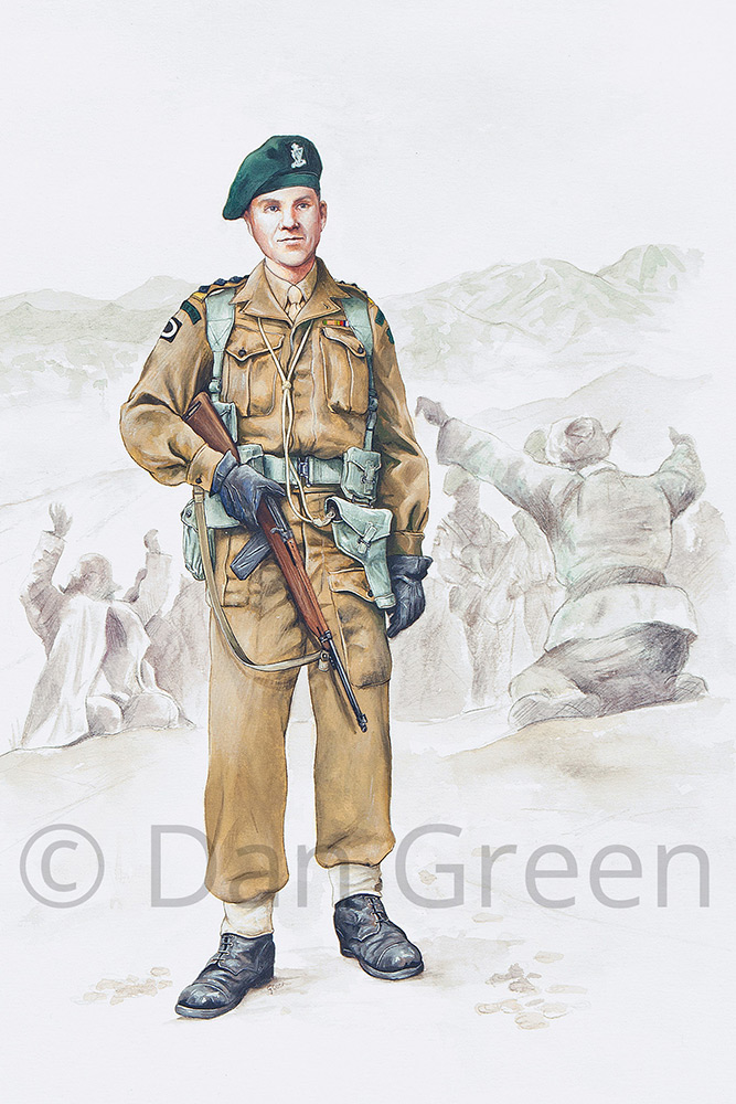 dgmilitaryart-novusart-captain-royal-ulster-rifles-korea-1952