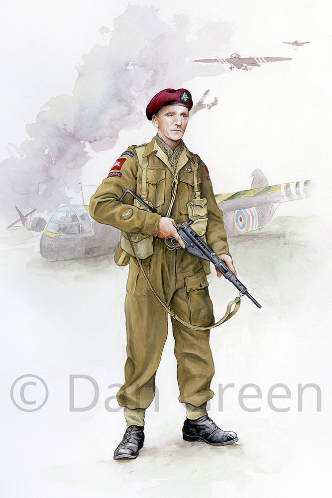 dgmilitaryart-novusart-major-royal-ulster-rifles-normandy-1944
